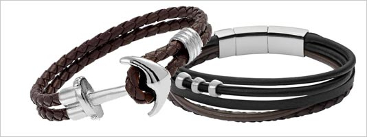 bracelet cuir mixte