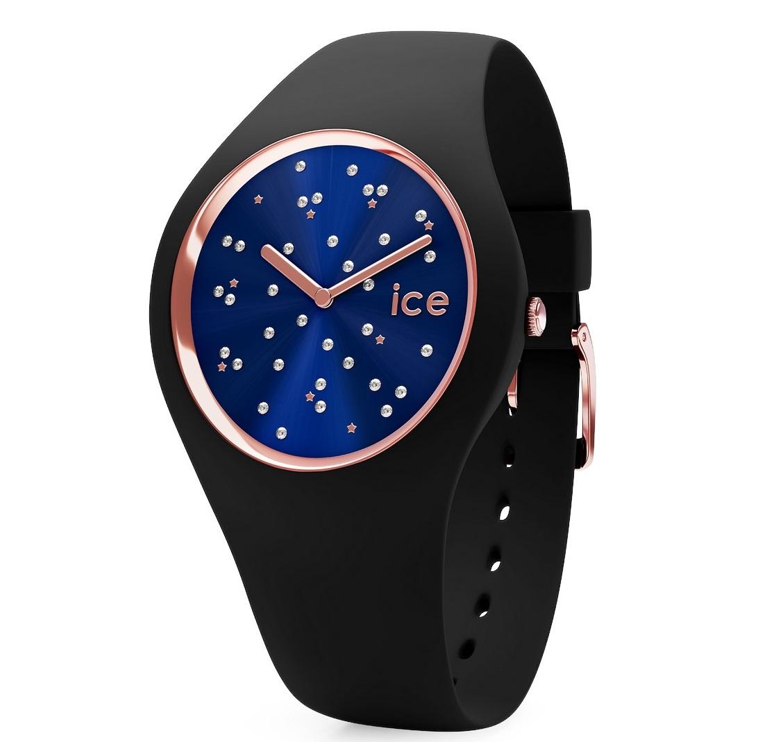 montre ice watch en silicone noir montre femme avec. Black Bedroom Furniture Sets. Home Design Ideas