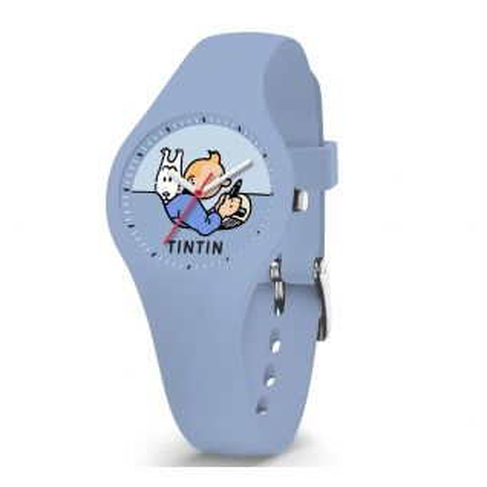 Montre Mixte Analogique TINTIN en 29.45 mm et Silicone Bleu - CLEOR