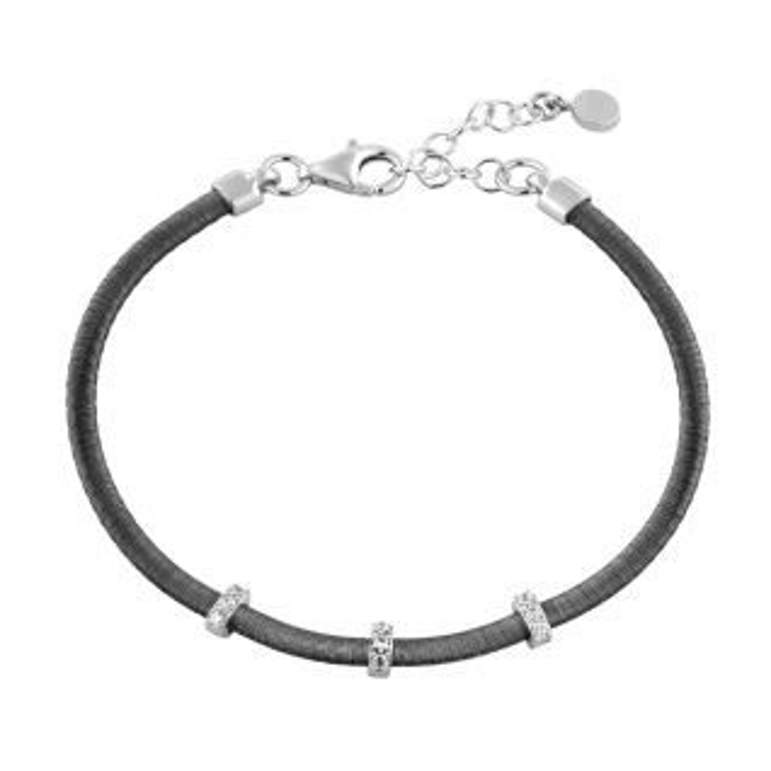 Bracelet Mixte Oxyde Noir ELEGANZA - CLEOR