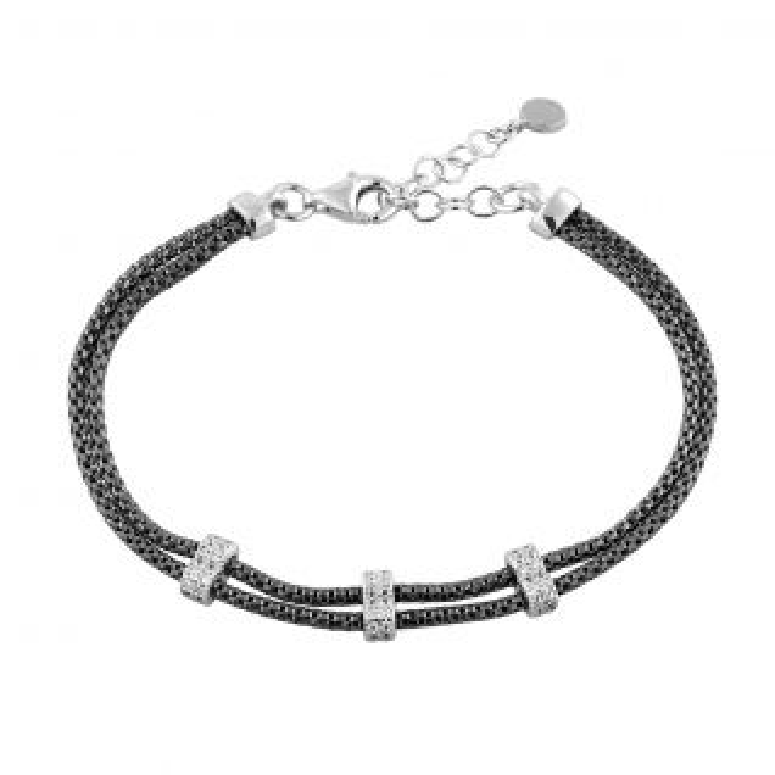 Bracelet Femme Oxyde Noir ELEGANZA - CLEOR