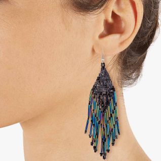 Boucles d'oreilles Femme Blanc INDIAN SUMMER - CLEOR
