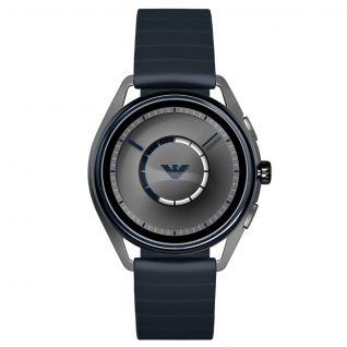 Montre Homme Digital EMPORIO ARMANI CONNECTED en 43 mm et Silicone Bleu - CLEOR