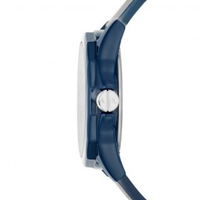 Montre Homme Analogique ARMANI EXCHANGE en 44 mm et Silicone Bleu - CLEOR