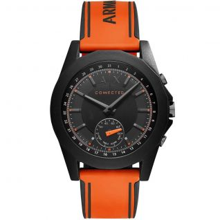 Montre Homme Analogique ARMANI EXCHANGE CONNECTED en 44 mm et Silicone Orange - CLEOR
