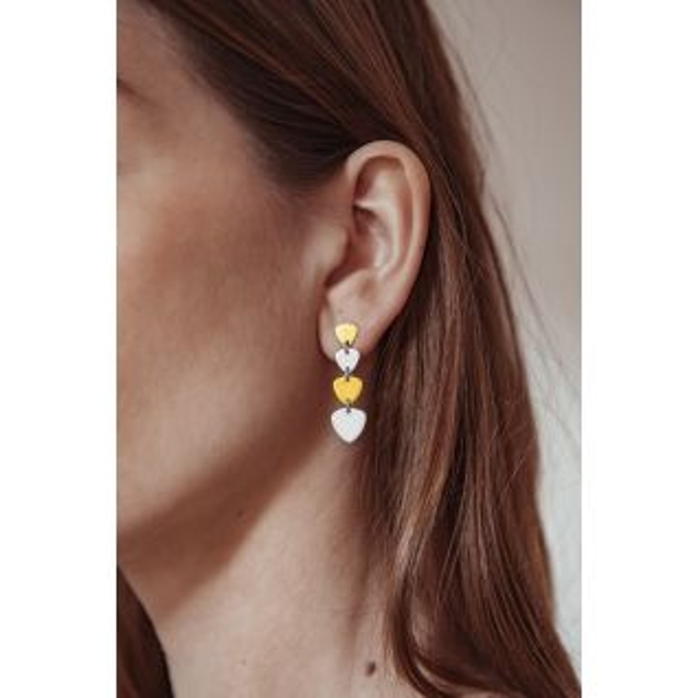 Boucles d'oreilles CLEOR en Argent 925/1000 Bicolore