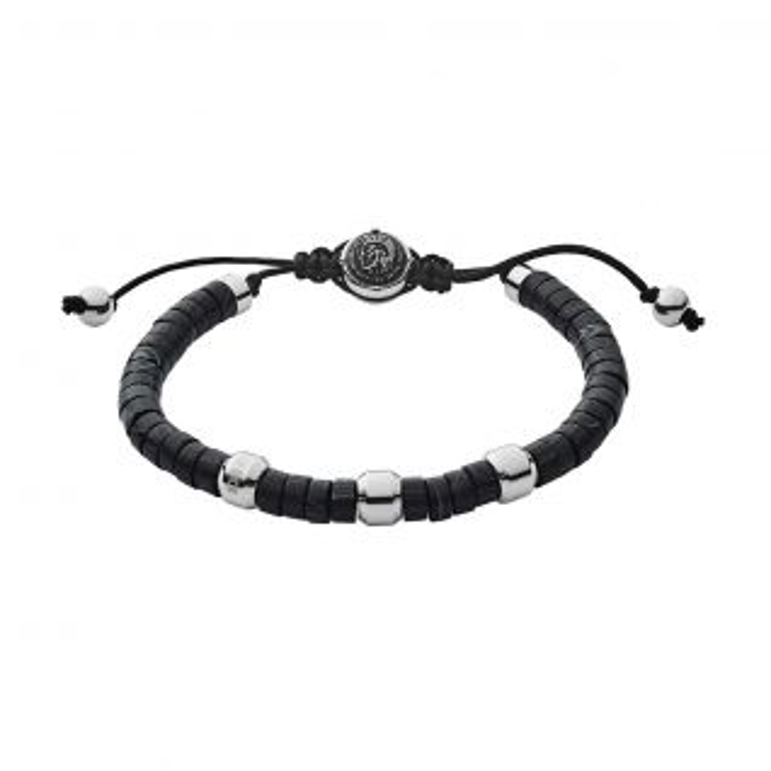 Bracelet Homme Agate Noir DIESEL - CLEOR