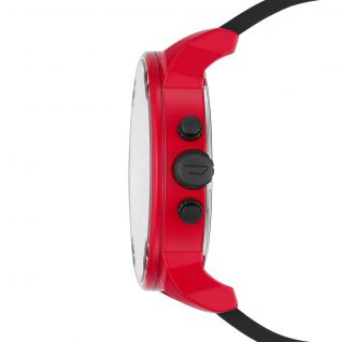 Montre Homme Analogique DIESEL en 57 mm et Silicone Rouge - CLEOR