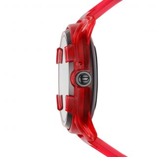 Montre Homme Digital DIESEL ON en 45 mm et Silicone Rouge - CLEOR