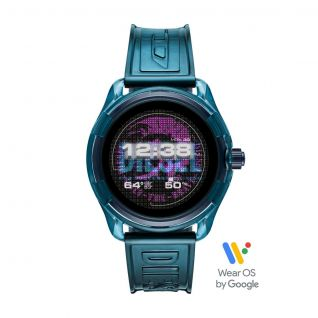 Montre Homme Digital DIESEL ON en 44 mm et Silicone Bleu - CLEOR