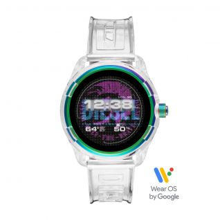 Montre Homme Digital DIESEL ON en 44 mm et Silicone Blanc - CLEOR