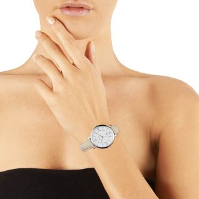 Montre Femme Analogique FOSSIL en 36 mm et Cuir Beige - CLEOR