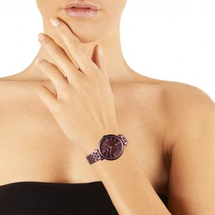 Montre Femme Analogique FOSSIL en Acier Rouge - CLEOR