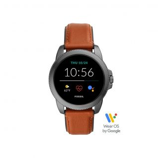 Montre Homme Digital FOSSIL Q en 44 mm et Cuir Marron - CLEOR