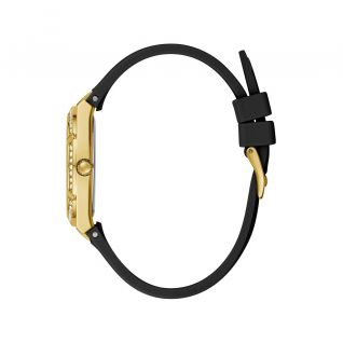 Montre Femme Analogique GUESS avec boîtier de 36 mm et bracelet en Silicone Noir - CLEOR