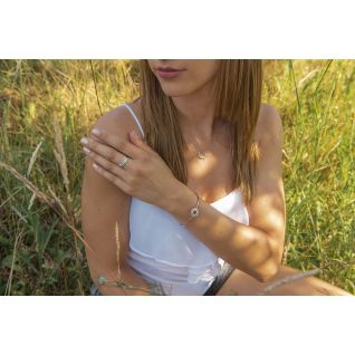 Bague Femme avec Oxyde Bleu TIPY - CLEOR