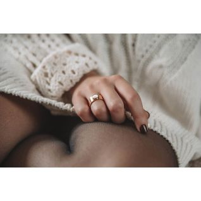 Bague Femme avec Agate Blanc MISSISSIPI - CLEOR