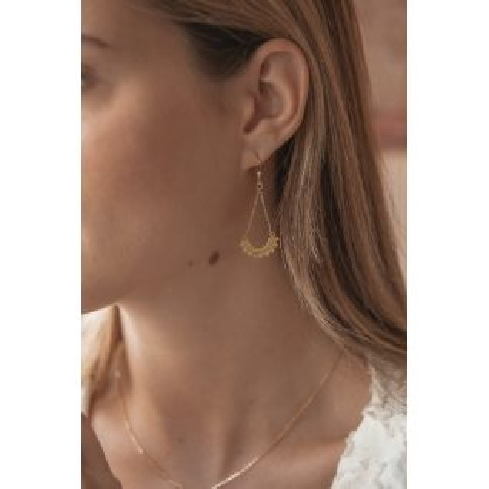 Boucles d'oreilles TIPY en Argent 925/1000 Jaune - CLEOR