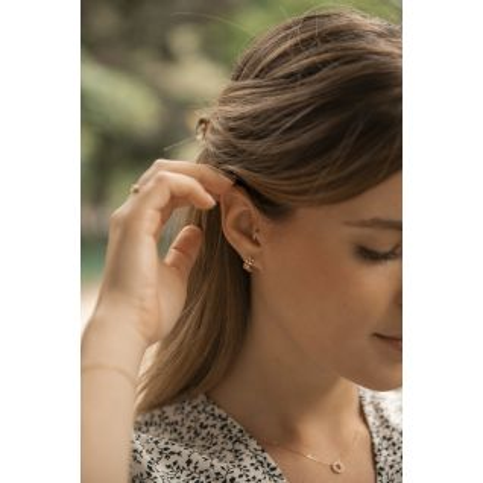 Boucles d'oreilles JULIETTE en Or 375/1000 et Oxyde - CLEOR