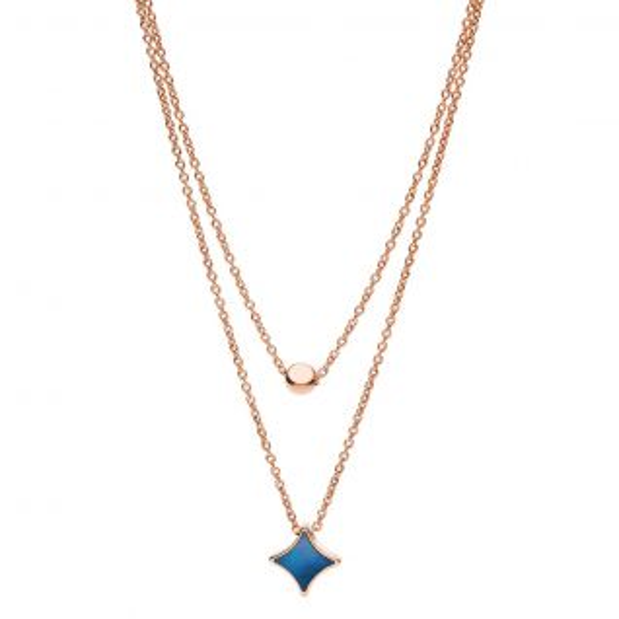 Collier Femme avec Nacre Bleu FOSSIL - CLEOR