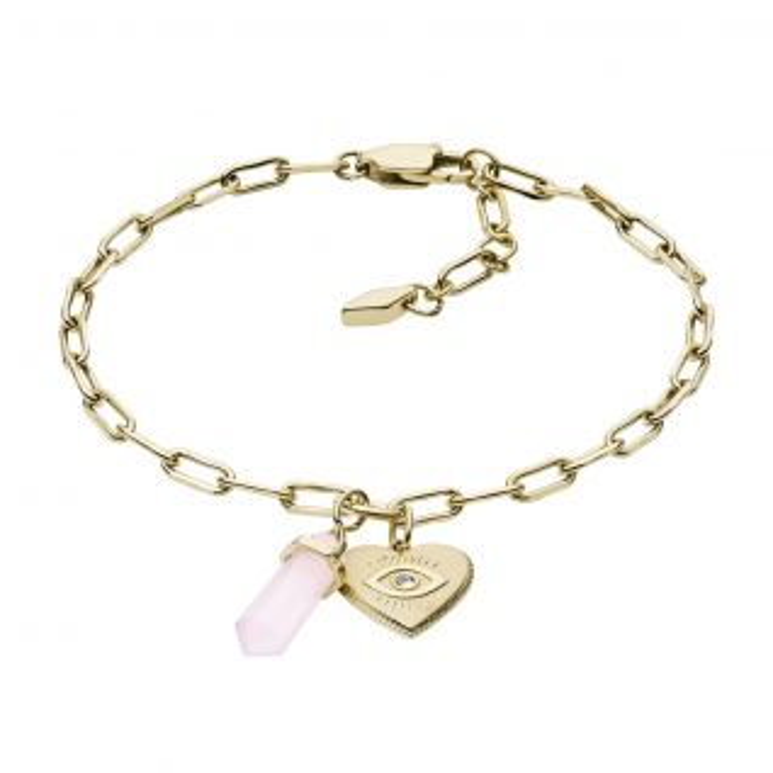 Bracelet Femme avec Quartz Rose FOSSIL - CLEOR