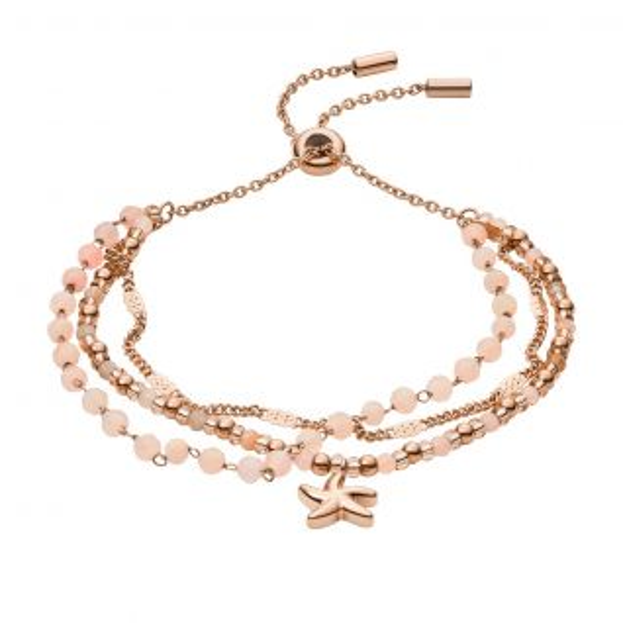 Bracelet Femme avec Agate Rose FOSSIL - CLEOR