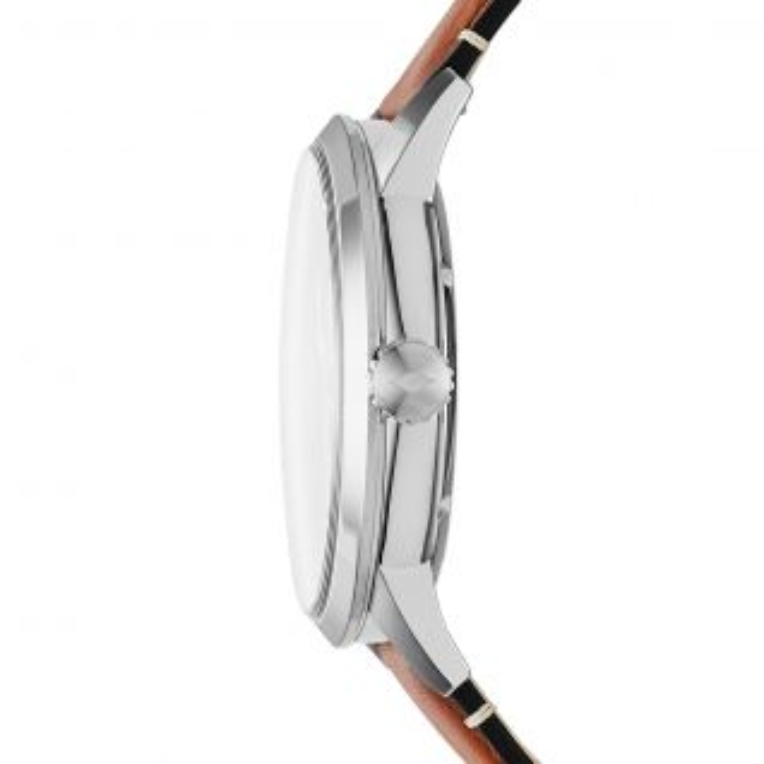 Montre Homme Analogique FOSSIL en 48 mm et Cuir Marron - CLEOR