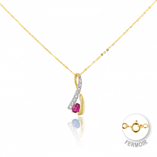 Collier Femme avec Rubis Rouge CLEOR - CLEOR