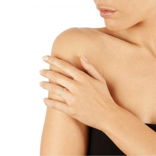 Solitaire Femme avec Oxyde Blanc CLEOR - CLEOR