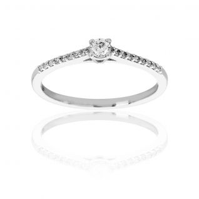 Solitaire Femme avec Diamant Blanc PROMESSE - CLEOR