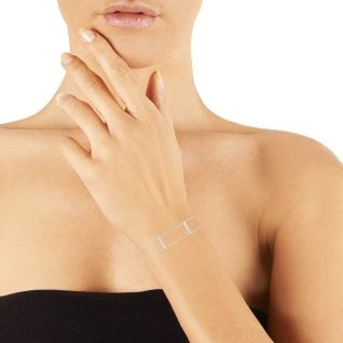 Bracelet Femme Oxyde Gris SQUARE - CLEOR