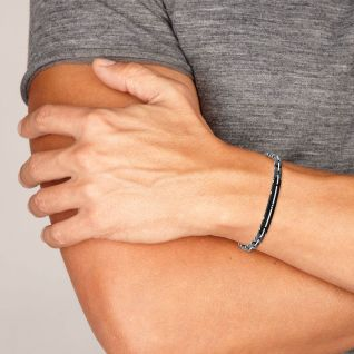 Bracelet Homme Oxyde Noir ZEPHYR - CLEOR