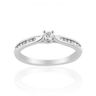 Solitaire Femme avec Diamant Blanc LADY DIAMONDS - CLEOR
