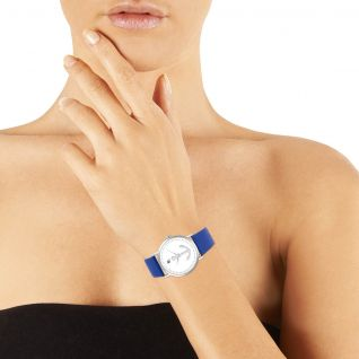 Montre Femme Analogique B&G en 40 mm et Cuir Bleu - CLEOR