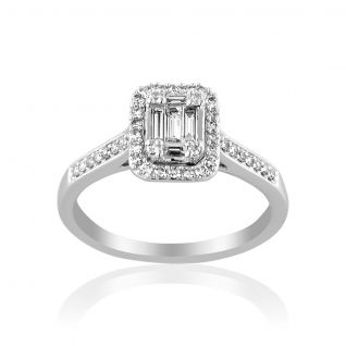 Solitaire Femme  Blanc LADY DIAMONDS - CLEOR