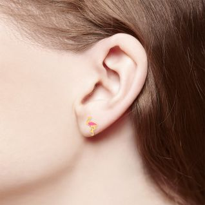 Boucles d'oreilles Enfant Jaune CLEOR - CLEOR