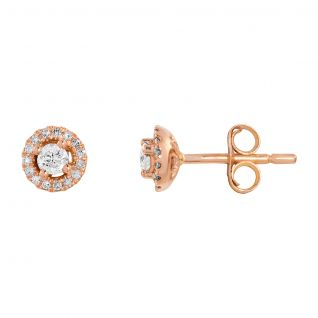 Boucles d'oreilles Femme Rose LADY DIAMONDS - CLEOR