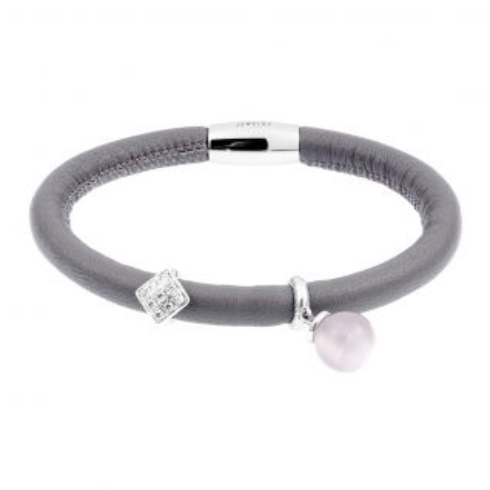 Bracelet Femme Cristal Gris ENDLESS - CLEOR