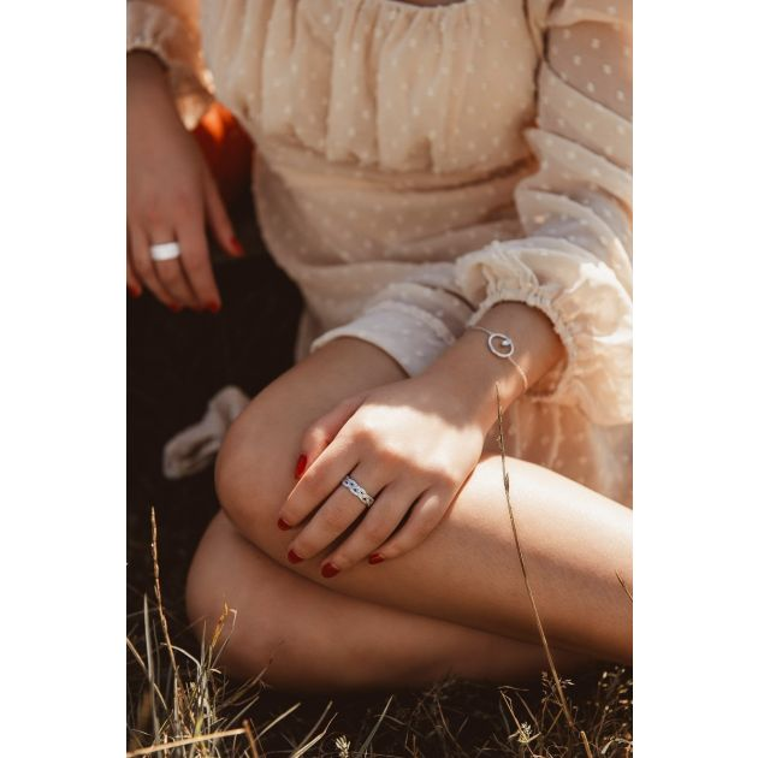 Bague Femme en Argent 925/1000 avec Oxyde Blanc CLEOR - CLEOR