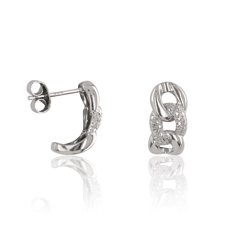 Boucles d 39 oreilles argent 925 1000 diamant boucles d - Ranger ses boucles d oreilles ...