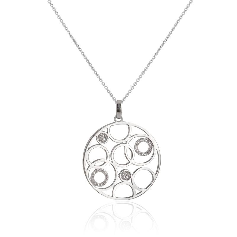 collier argent 925 1000 diamant collier femme avec cleor z0002944. Black Bedroom Furniture Sets. Home Design Ideas