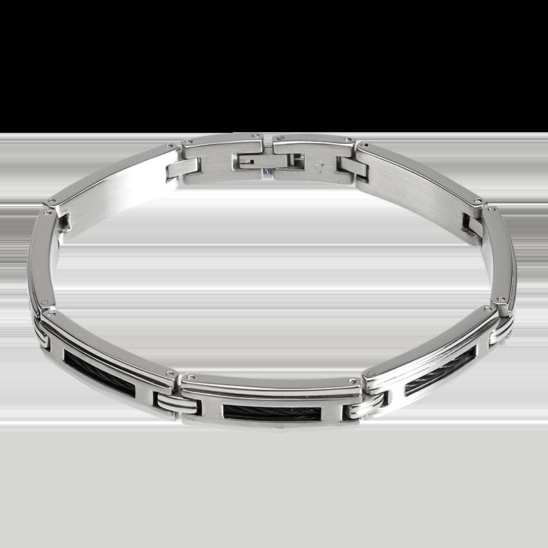 Cleor bracelet argent homme